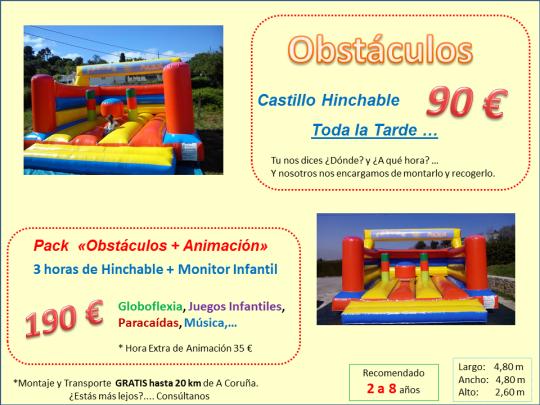 Alquiler Castillo Hinchable Santiago Compostela